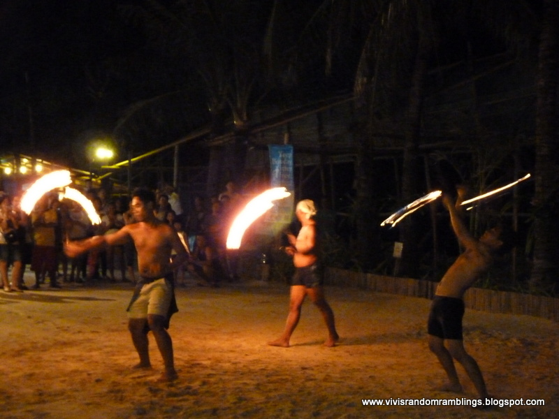 fire dance at Boracay